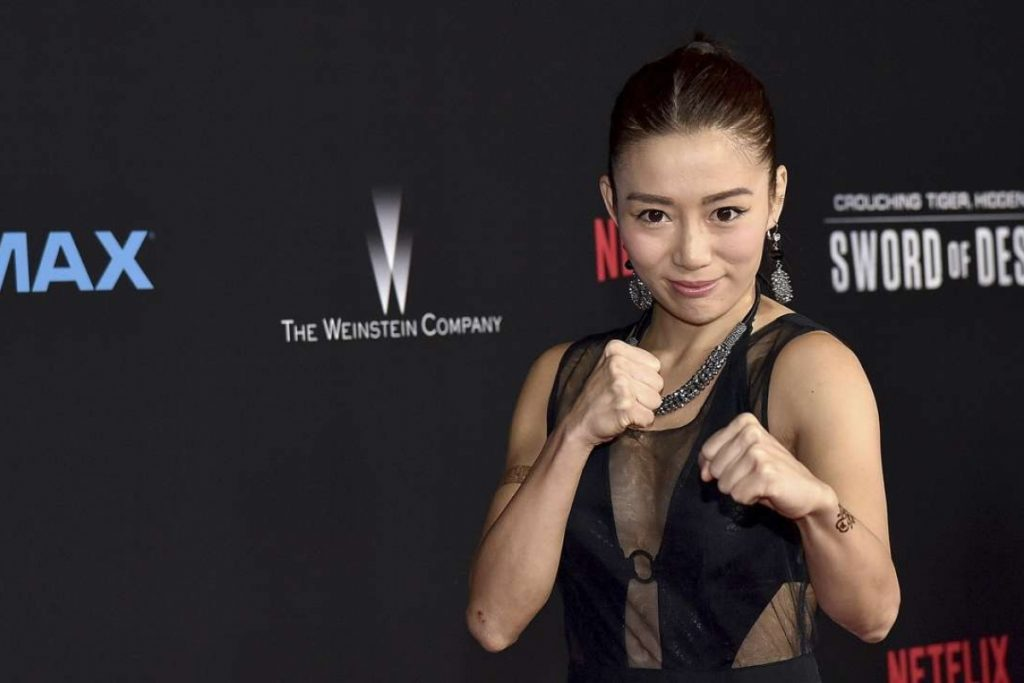 JuJu Chan at the Los Angeles premiere of Crouching Tiger, Hidden Dragon: Sword Of Destiny.